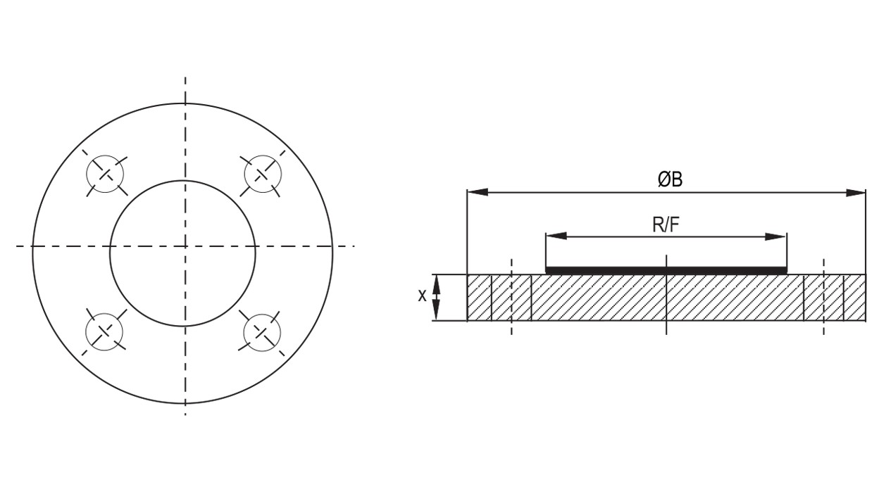 hight resolution of  lined blind flanges diagram