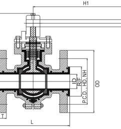pfa fep lined ball valve diagram [ 1248 x 712 Pixel ]