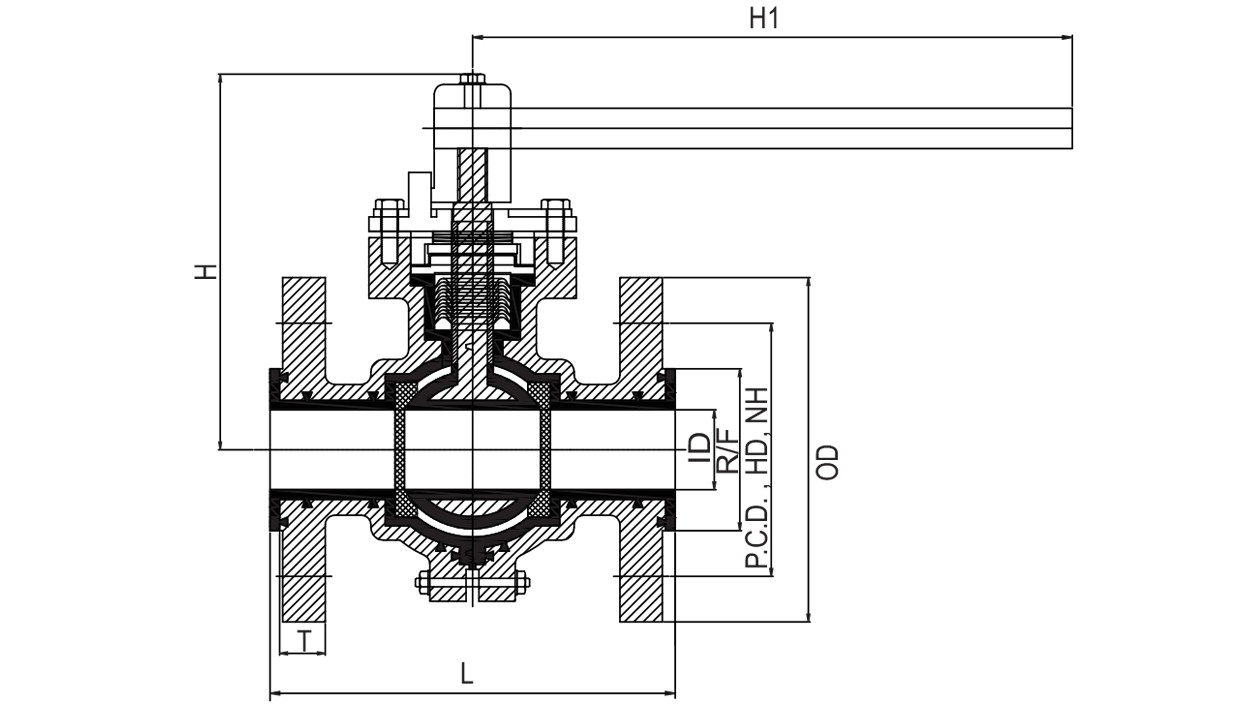 hight resolution of  pfa fep lined ball valve diagram