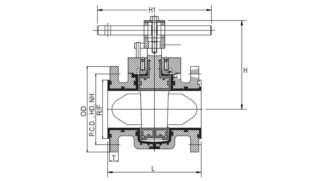 PFA Lined Plug Valves, Teflon Lined Plug Valve, FEP Lined