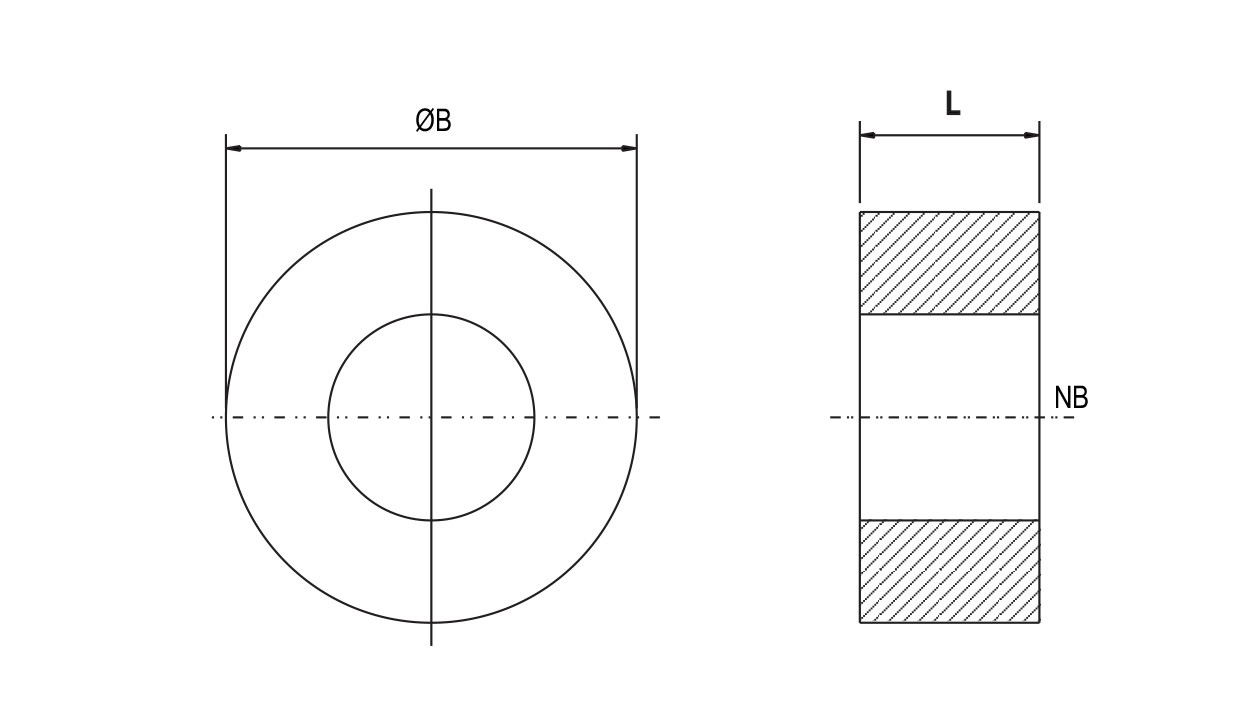 hight resolution of ptfe solid type spacer ptfe solid type spacer diagram