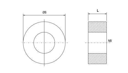 small resolution of ptfe solid type spacer ptfe solid type spacer diagram