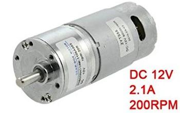 DC Gear motor 12V,200RPM