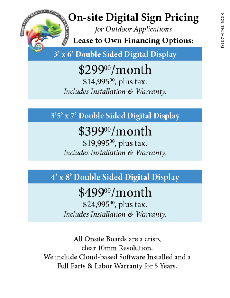 Onsite Pricing 2