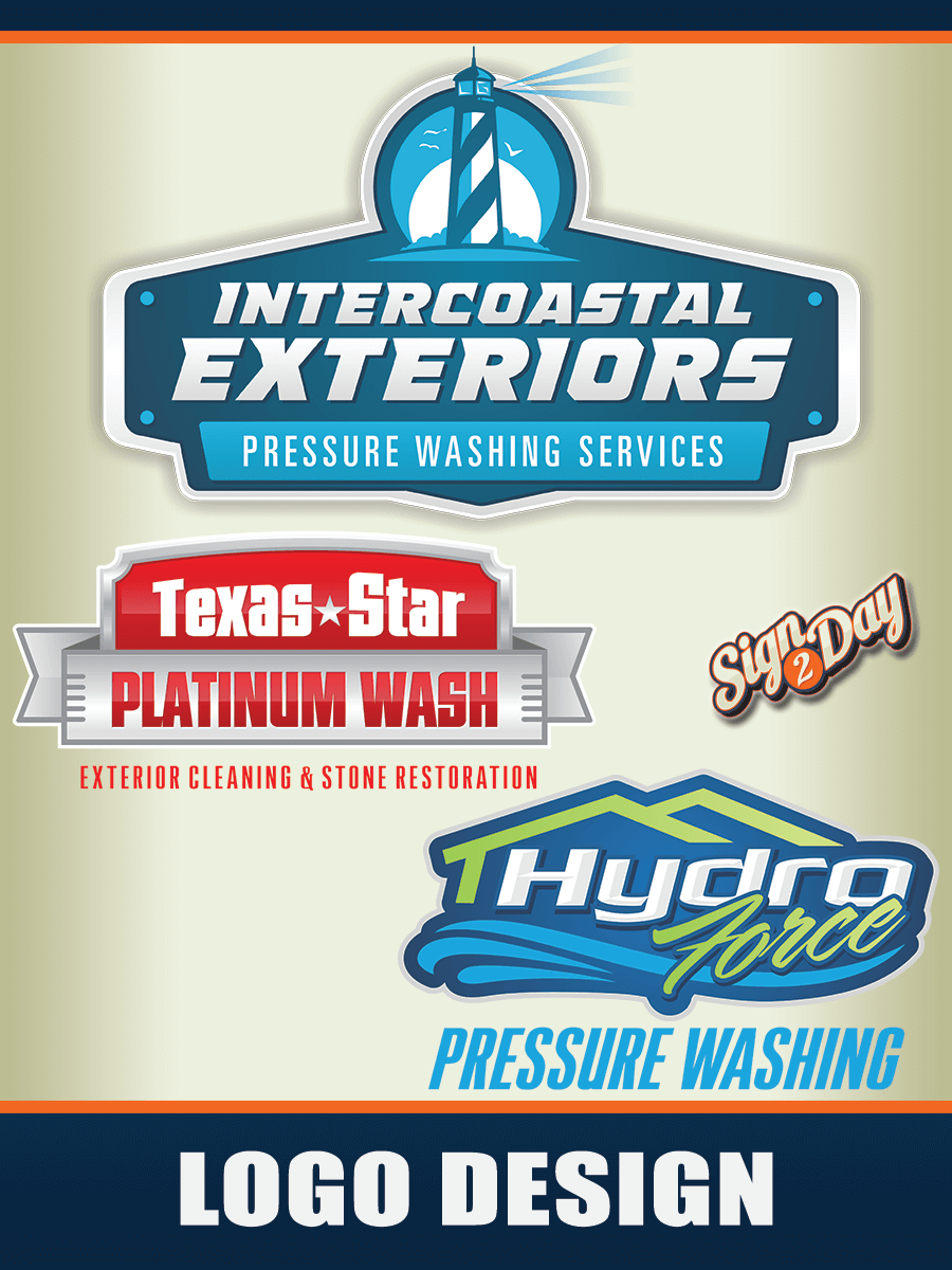 Pressure Washing Business Logo : pressure, washing, business, Sign2Day