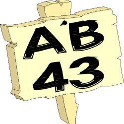 Sign AB43