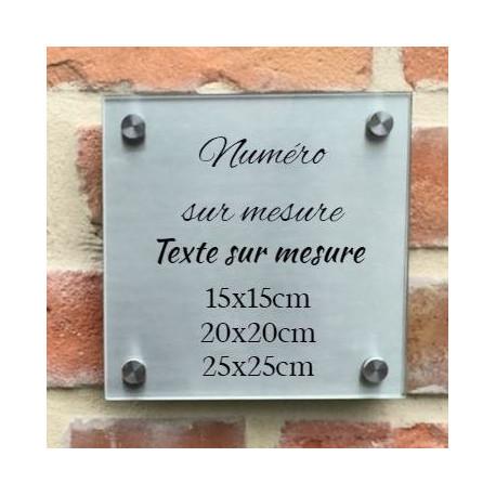 plaque habitation inox verre trempe hauteur 150 203 2 ou 254
