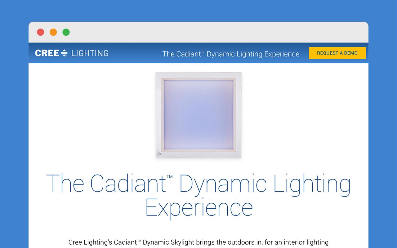microsite development for cree lighting