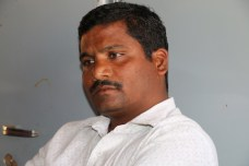 Mr. Chanadalinga Kalalbandi, grand son of devadasi, 9 standard educated youth, one of the conveners of the Vedhike, very dynamic leader.