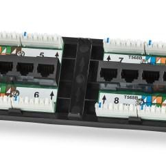 Cat6 Wall Jack Wiring Diagram Electrical Motor Control Panel Panduit Cat5e Rj45 Keystone To Plug ...