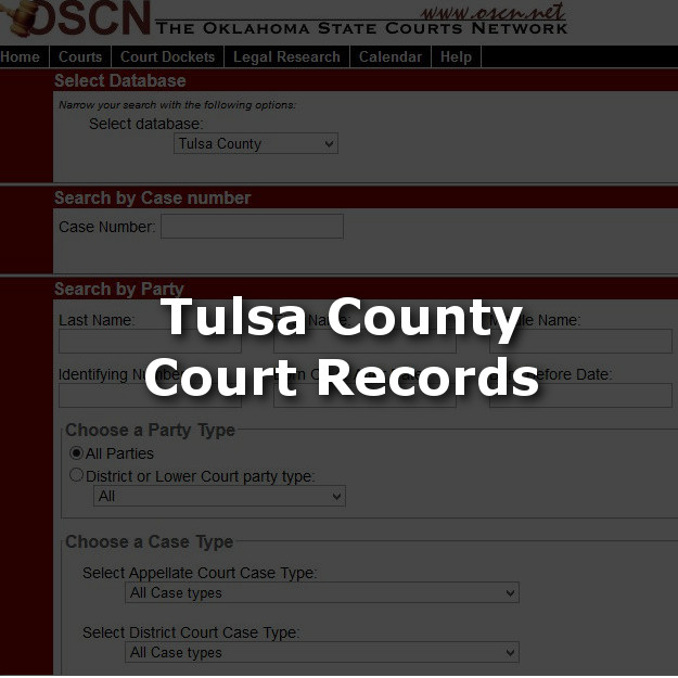 Tulsa County Court Records at OSCN