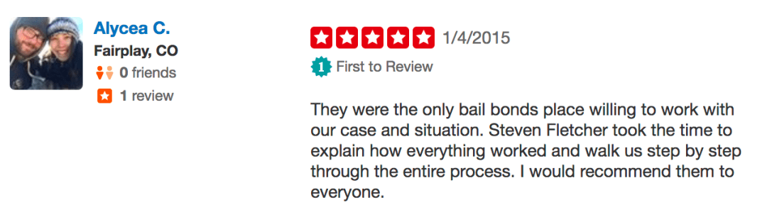 Yelp Bail Bond Reviews