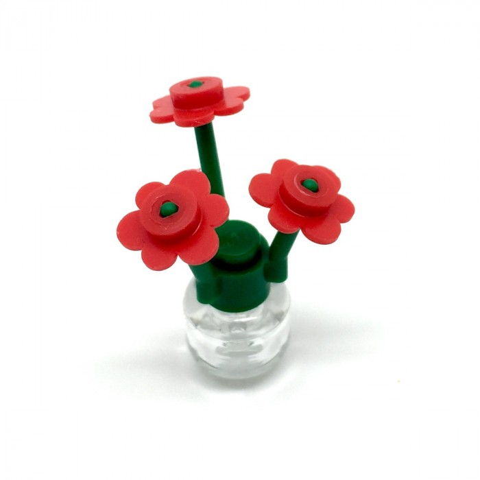 LEGO Red Flower With Vase Flowers Amp Trees Accessories