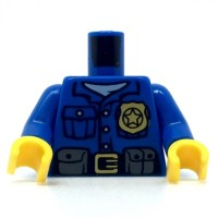LEGO Police Shirt with White Undershirt, Gold Badge and ...