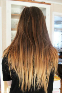 ombre carmel signature day spa hair