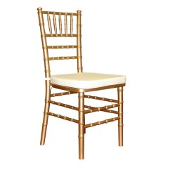 White And Gold Chair Long Lounge Cushions Chiavari With Pad Signature Tables Chairs Rental