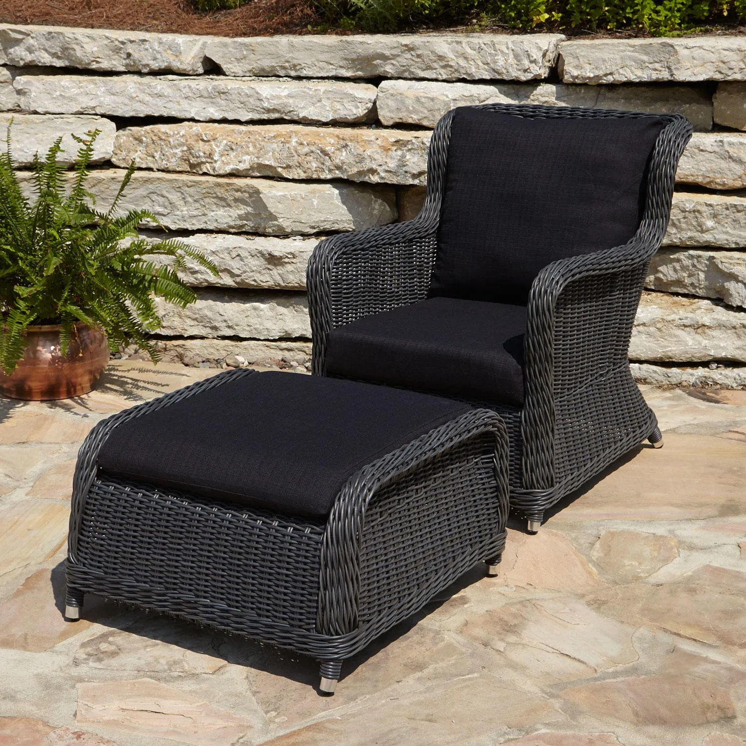 Wicker Patio Chair Alcee Resin Wicker Outdoor Chaise Lounge Chair And Cushion