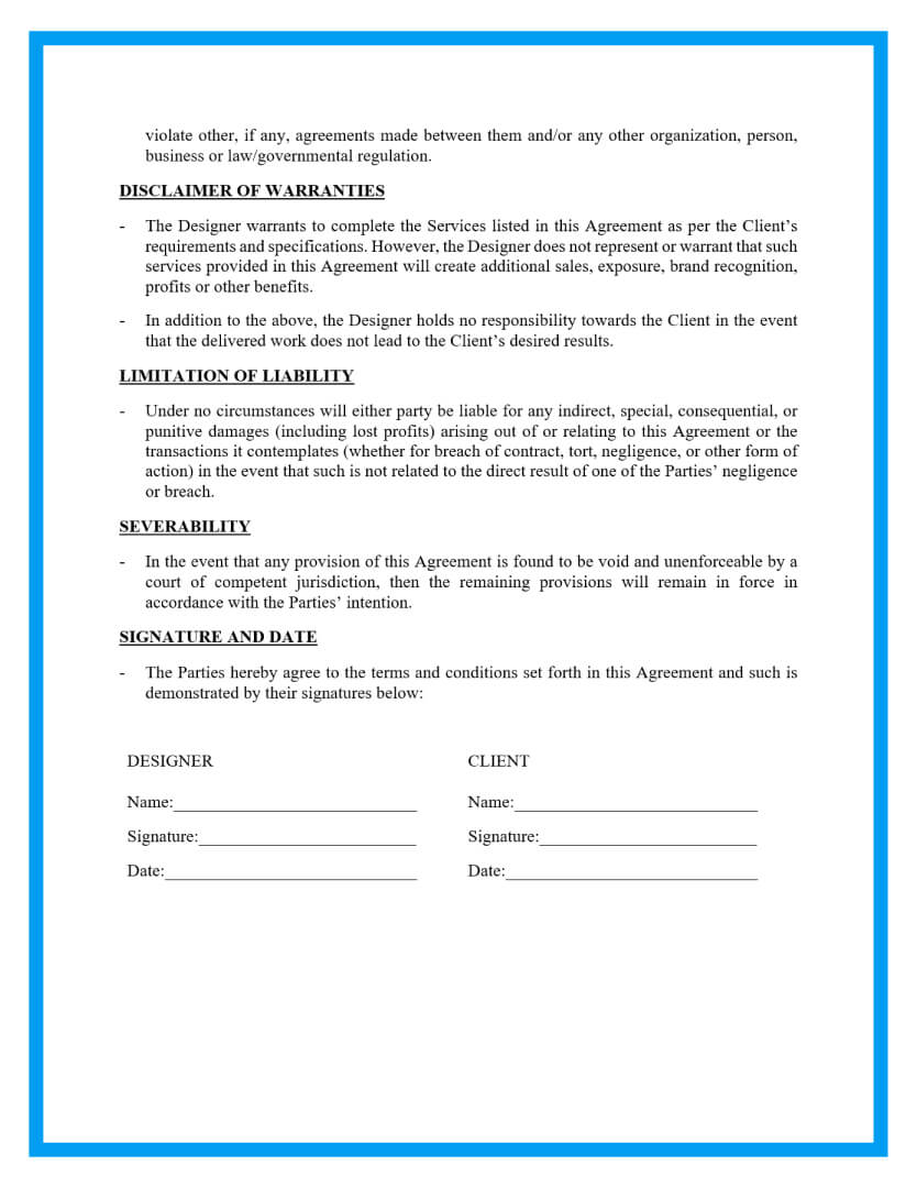 You can use the free contract template word offers or the contract template google docs provides, but the contract agreement templates from proposable are more robust. Free Simple Website Contract Template For Download