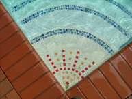 tile inlay pool steps