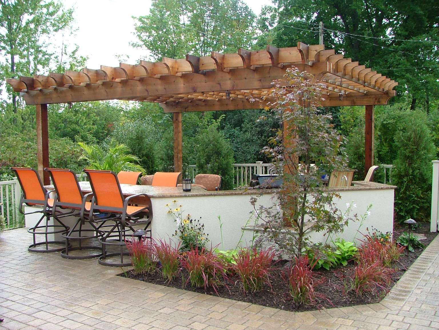 East Grand Rapids Pool Pergola And Outdoor Kitchen