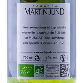 Photo de l'étiquette de la bouteille de Muscat du Domaine JunD