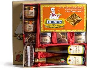 Photo du coffret de la COLMAR BOX LUXE et ses produits locaux