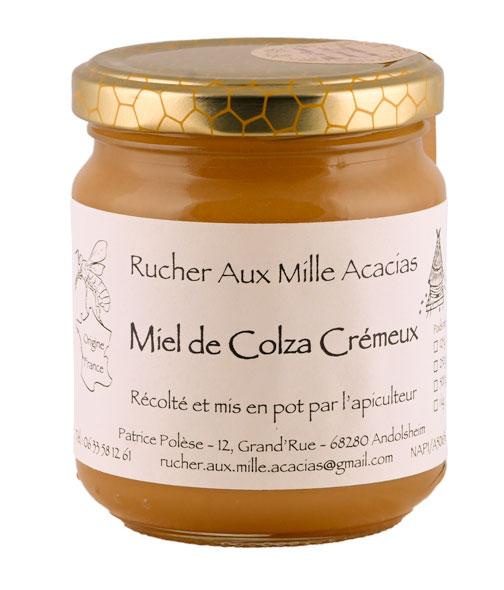 Photo de détail Pot de Miel de COLZA par le Rucher aux Mille Acacias