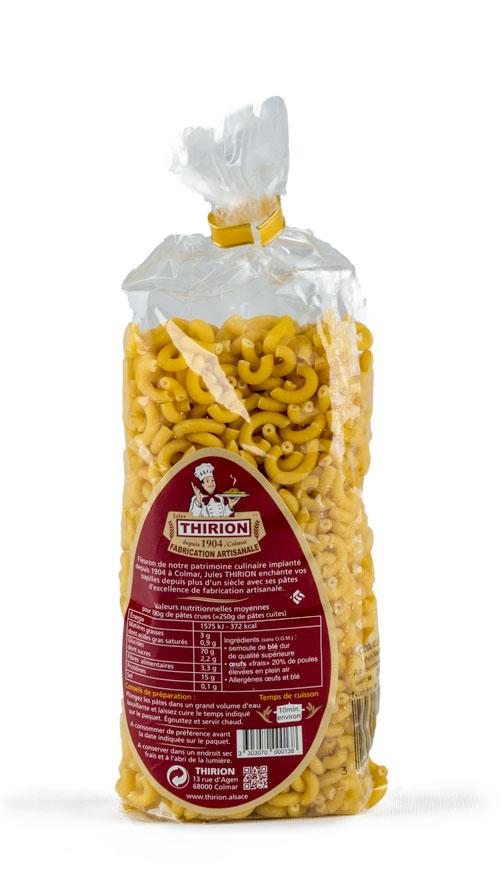 Photo de l'étiquette des Pâte THIRION – Coquillettes – 250 g