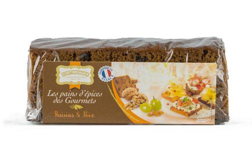 Photo du pains d'épices des Gourmets Raisins & Noix par La maison Fortwenger