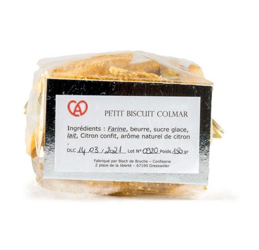 Etiquette Petit Biscuit Colmar Citron par par Bisch de Bruche