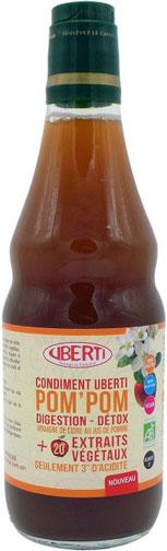 Photo de la bouteille de Condiment de vinaigre Uberti Pom'Pom Bio
