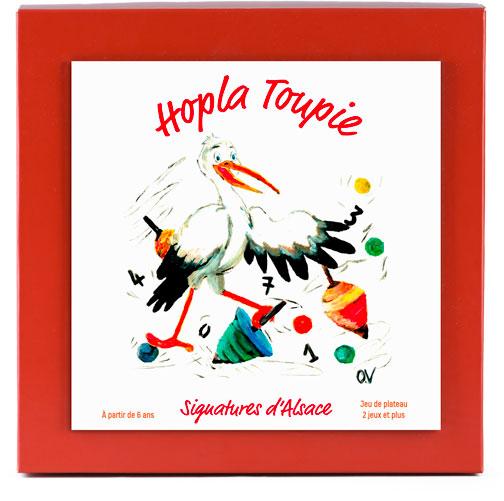 Photo de la boîte du jeu Hopla Toupie par Signatures d'Alsace