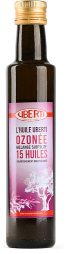 Photo de la bouteille de mélange de 15 huiles ozonée UBERTI
