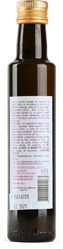 Photo de l'étiquette de la bouteille de mélange de 15 huiles ozonée UBERTI