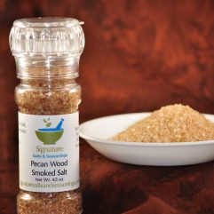 pecan wood smoked salt bottle