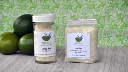 Lie salt products in bttle and bag