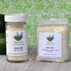 Lie salt products in bttle and bag