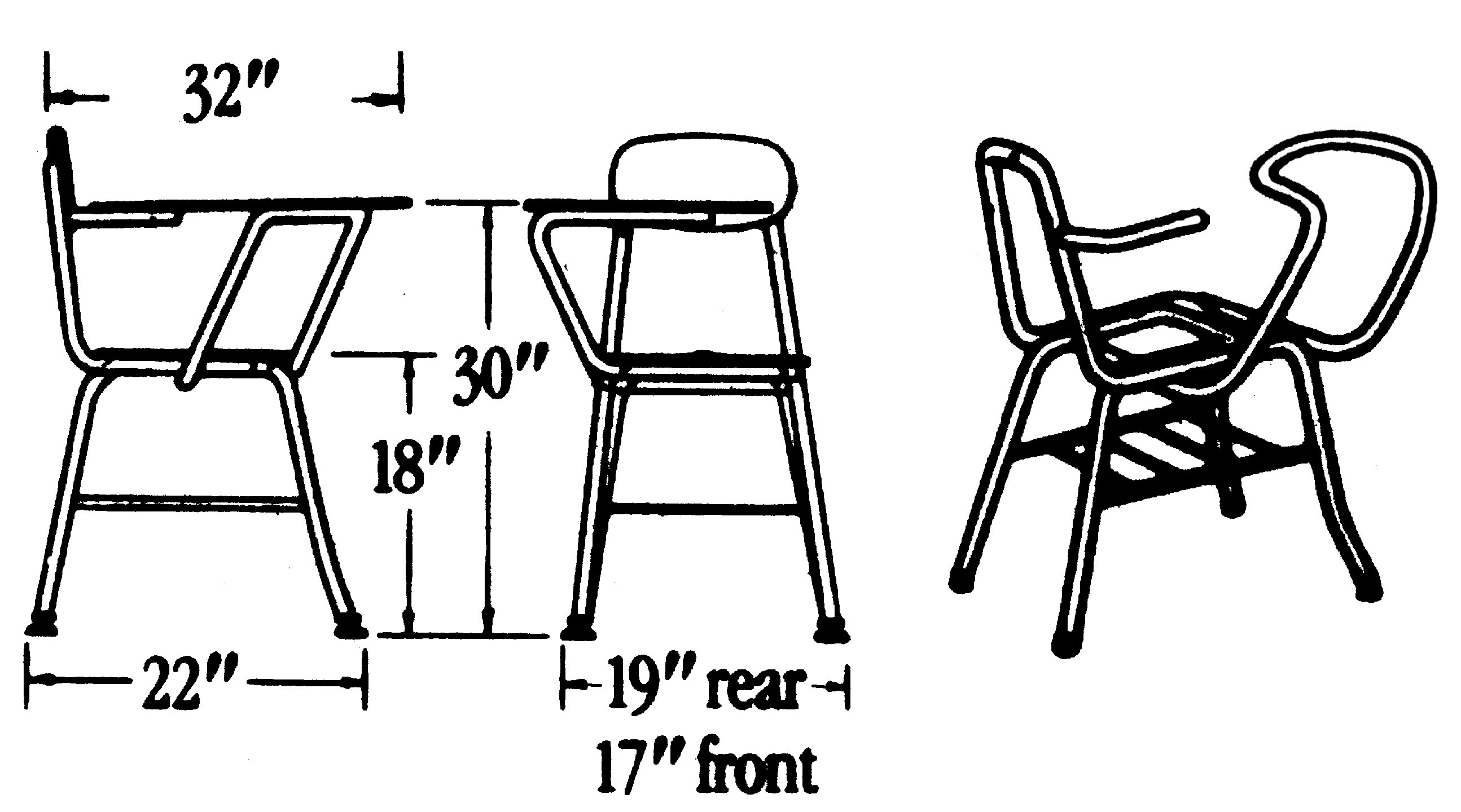 Chair Rack Columbia Manufacturing 17 5