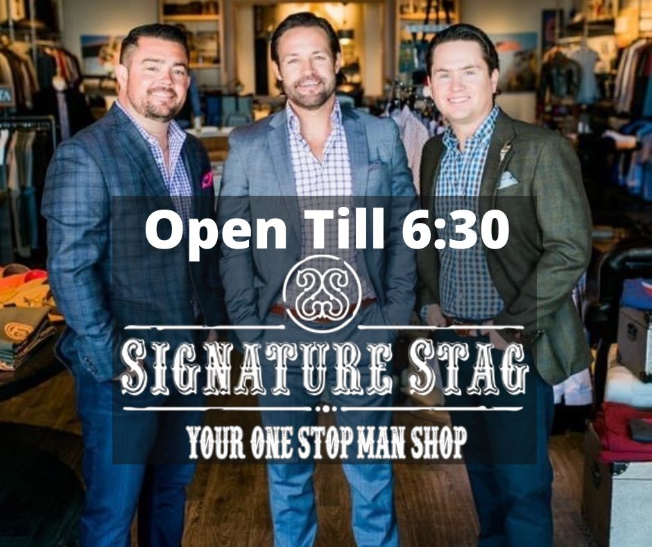 Signature Stag Lubbock and Midland Store Hours