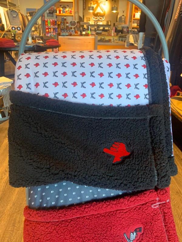 Texas Tech Black Blanket with Texas Hand & Cross Guns Logo