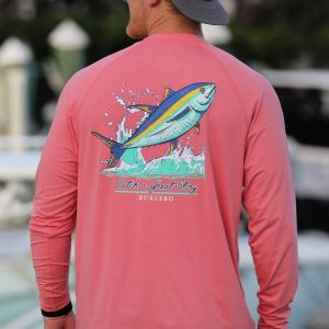 Catch a Great Story Sun Tee with Coral Color