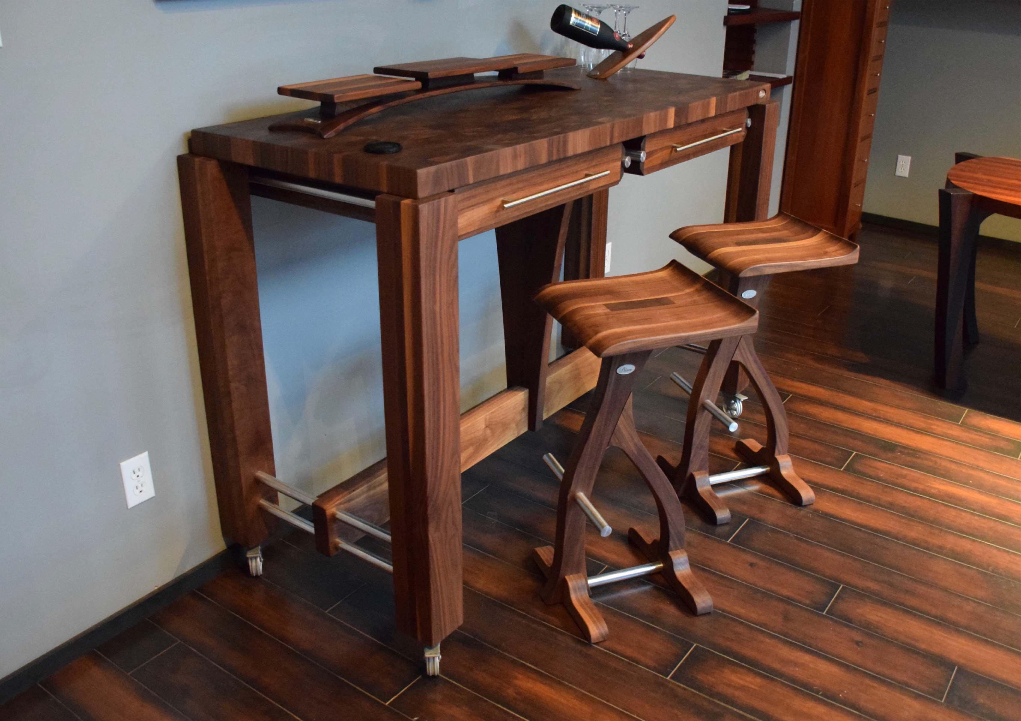 en bois comptoir bloc de boucher