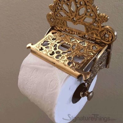 Victorian Toilet Paper Holder  Brass Tissue Holders Wall Mounted  SignatureThingscom