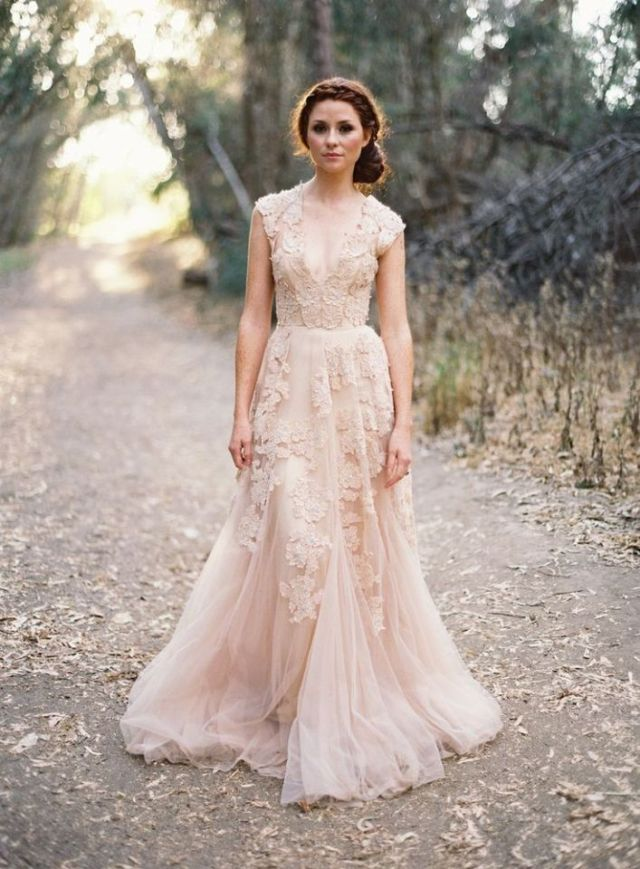 10 of the Most Beautiful Non-White Wedding Gowns