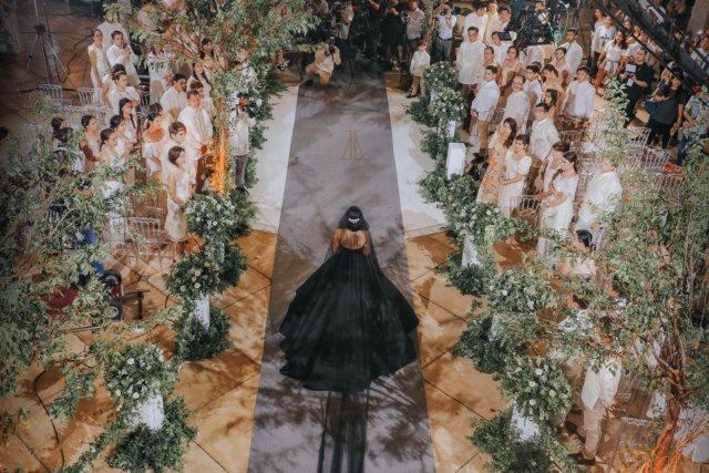 wedding - Bride Maja Salvador Wore Black Wedding Dress
