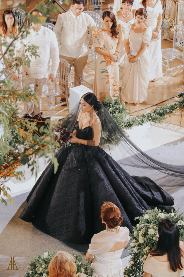 Bride Maja Salvador Wore Black Wedding Dress