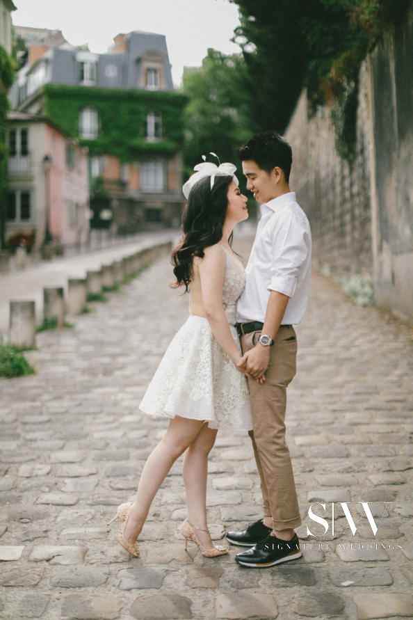 Boby and Stephanie's Stunning Paris Pre-Wedding Photoshoot by Axioo