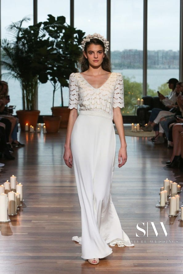 LAURE DE SAGAZAN Fall 2018 Bridal Collection—New York Fashion Week