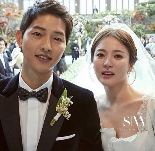 Korean Celebrity Sweethearts Song Joong Ki and Song Hye Kyo Tie the Knot in Low-Key Ceremony