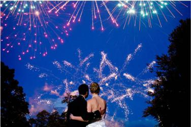 Warble Entertainment Wedding Outdoor Firework